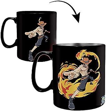 One Piece Luffy & Ace - Taza con efecto térmico: Amazon.es: Juguetes y juegos