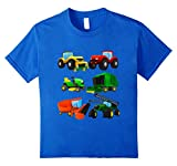Kids Boys' Farm Tractors Short Sleeved T-shirt for Toddlers 4 Royal Blue