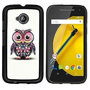 """Be-Star Único Patrón Plástico Duro Fundas Cover Cubre Hard Case Cover Para Motorola Moto E2 / E(2nd gen)( Gran colorido lindo del búho de ojos"""" )"""