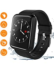 Beaulyn Fitness Trackers, Smart Watches Heart Rate Blood Pressure Monitor Activity Trackers with 8 Sports Modes Steps Calories Counter IP67 Waterproof for Android IOS for Kids Women Men