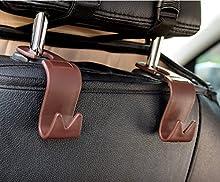 Cllena Car Vehicle Back Seat Headrest Hook Hanger Storage for Purse Groceries Bag Handbag (4 Pack)