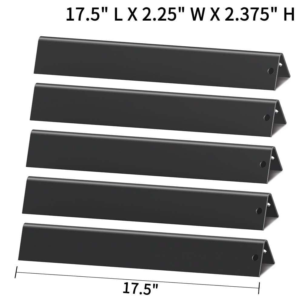X Home 7621(17.5 inch) Replacement Flavorizer Bars for Weber Genesis 300 Series E310/E320/S310/S320/S330 EP310/EP320 with Front Control Knobs, Set of 5 Porcelain Steel 7620 Flavor Bars 17.5""