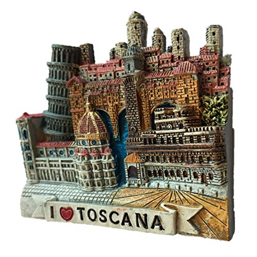 (Refrigerator Magnets Resin 3D Funny Toscana Italy City Travel Souvenirs Fridge Stickers Magnetic Fridge Magnet for Whiteboard Home Kitchen Decoration Accessories Arts Crafts Gifts)