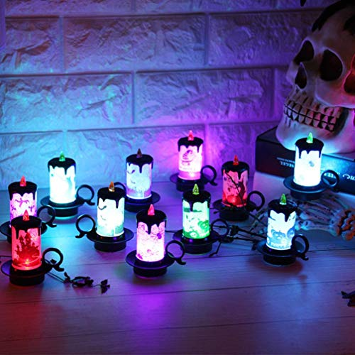 Halloween Decoration, 12 PCS Candle LED lights Party Supplies ()