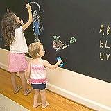 docooler Wallpaper DIY Blackboard Waterproof Chalkboard Wall Paper Decal Removable Sticker Chalk Board 60 * 200cm