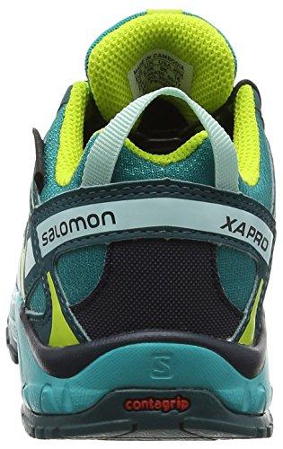 Salomon Unisex-Kinder XA Pro Traillaufschuhe Deep Peacock Blue/Ceramic/Lime Punch
