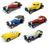 |Set of 6| Assorted Pullback Diecast Metal Antique Classic Model Cars (1:32 Scale)