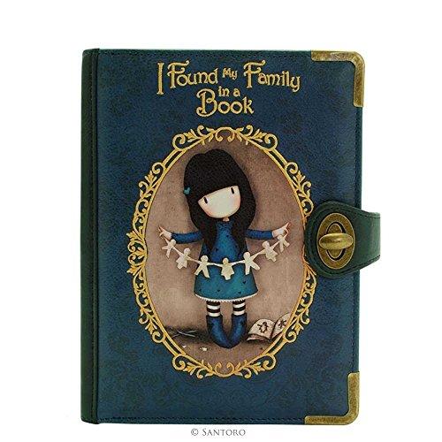 Santoro Gorjuss chroniques embrayage sac - J'ai trouvé ma famille dans un livre