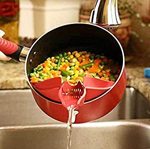 1pcs Silicone Kitchen Gadget Tools Soup Funnel Water Deflector Cooking Tool Rice Wash Sieve Liquid Pour Tool from NPLE