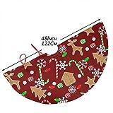 AHOOCUSTOM Merry Christmas Rustic Tree Skirt Cute