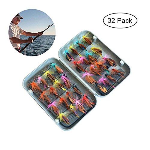 KOBWA - Kit de Pesca con Mosca con Moscas y Mariposas como Moscas secas, Anzuelo para Pesca con Mosca, Anzuelo para Pesca con...