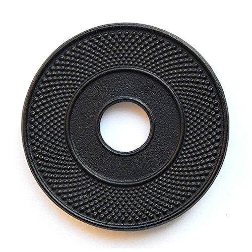 TOWA Workshop Cast Iron Trivet for Teapot kettle tetsubin Black Hobnail 5.3 (Tetsubin Cast Iron)