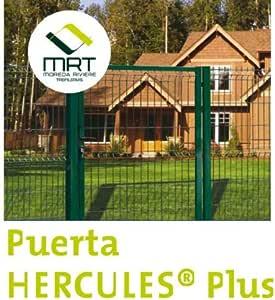 PUERTA HERCULES VERDE PEATONAL 1X1,5: Amazon.es: Bricolaje y ...
