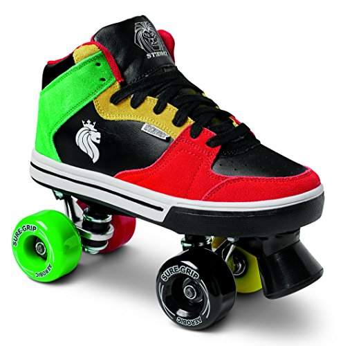 Sure-Grip Rasta Mid Top Shoe Roller Skates (9)