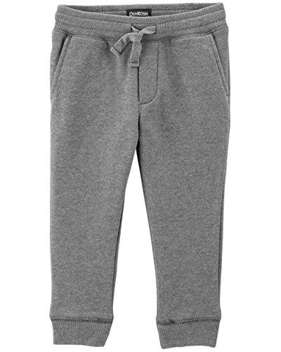 OshKosh B'Gosh Boys' Classic Fit Logo Fleece Pants, Grey, 4T