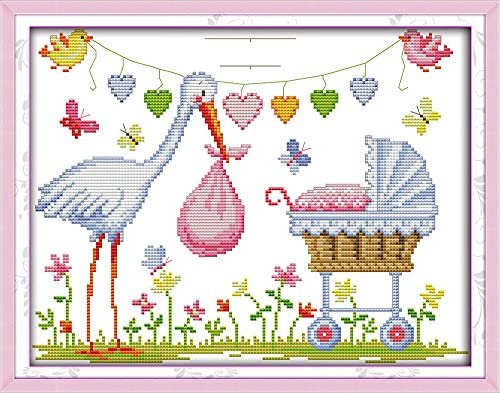 Joy Sunday Cross Stitch Kits,Still Life Style,Blue and White Porcelain 2 ,11CT Counted 43cm/×46 or 16.77/×17.94