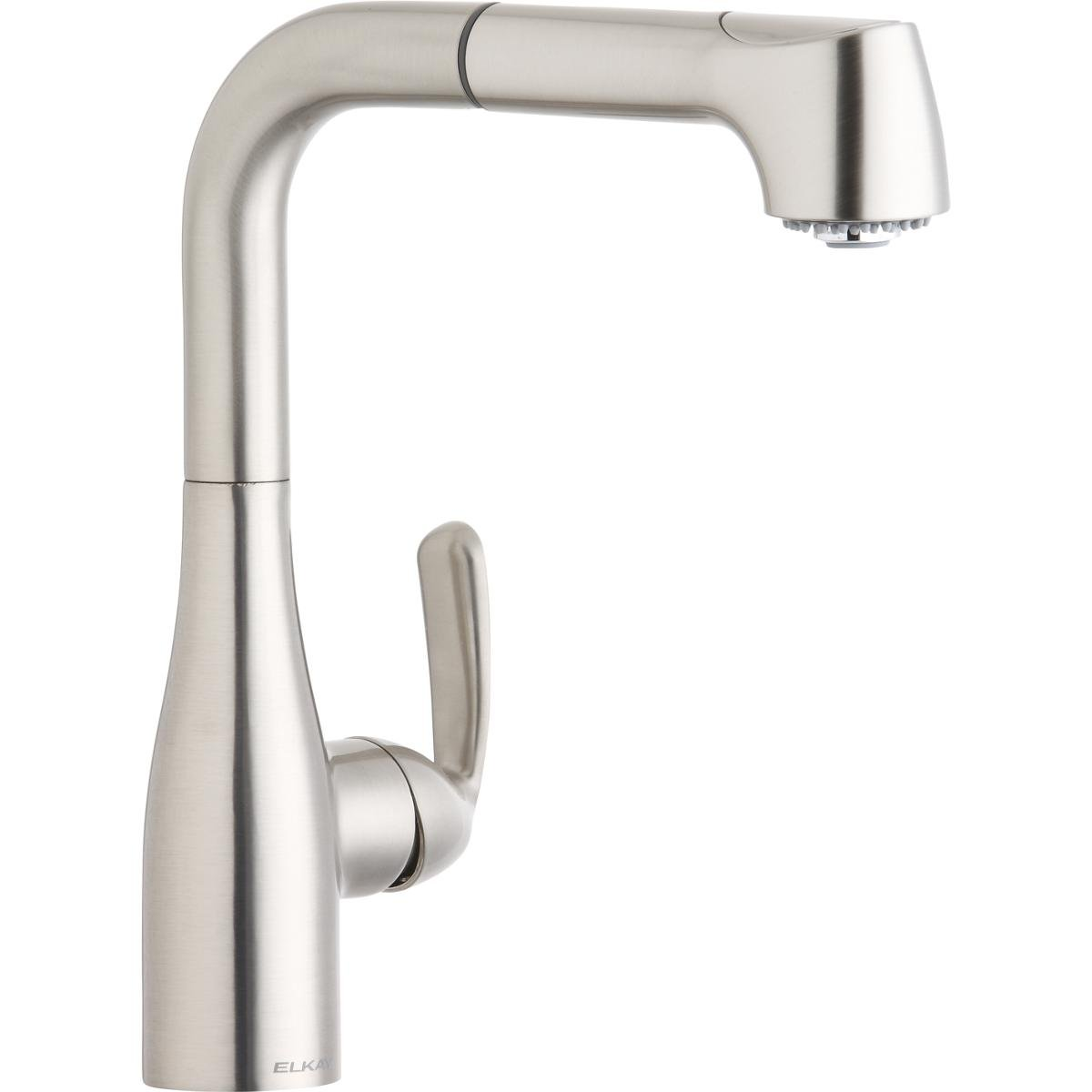 Elkay LKGT2042NK Gourmet Brushed Nickel Single Lever Pull-out Spray Bar Faucet