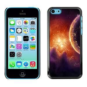 Qstar Arte & diseño plástico duro Fundas Cover Cubre Hard Case Cover para Apple iPhone 5C ( Gas Pillars Red Galaxy Universe Planet Alien)
