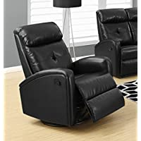 Monarch I 8088Bk Swivel Glider Recliner, Black