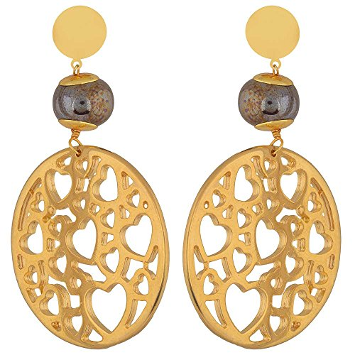 Shaze Gold Colored Ever Chic Earrings for Women by shaze