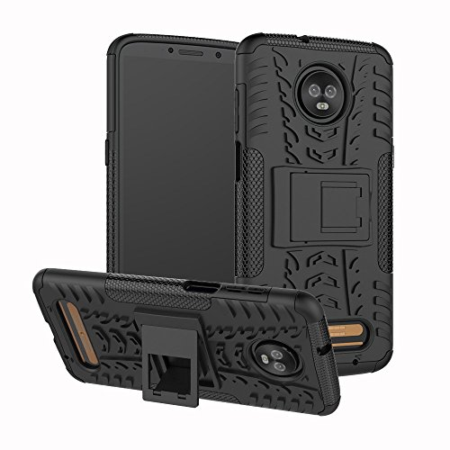 Moto Z3 Play Case, UZER Shockproof Hybrid Slim Dual Layer Rugged Rubber Hybrid Hard/Soft Impact Armor Defender Full Body Protective Case With Kickstand for Motorola Moto Z3 Play 2018 Model