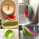 collapsible shower/hanging wash-basin/toilet/Bathroom rack/toilet wall mounted racks/Thickened wall-hung basin-A