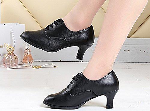 De De Cordón De De Baile Fondo Baile Negro1 Tacones Mujeres Mediados Salón Zapatos Zapatos Blando Zapatos Baile Latino WYMNAME zqPEFw