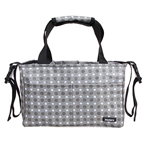 ndbag Purse Tote Insert Organizer(Sewn to The Bottom) with Stroller Straps ()
