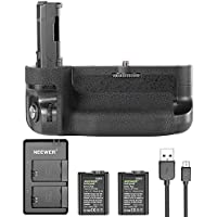 Neewer Vertical Battery Grip Kit for Sony A7 II A7R II, includes VG-C2EM Replacement Battery Grip(without Remote Control), 2 pieces 1100mAh FW50 Replacement Li-ion Batteries and Dual Charger