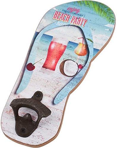 Flaschenöffner im FlipFlop Look und Strandmotiv 27 cm