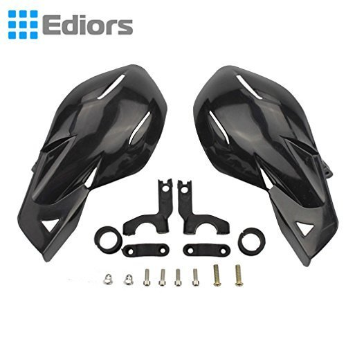 Ediors One Pair Black Plastic Compatition Racing Dirt Bike ATV Mx Motocross Supermoto Motorcycle Hand Guard Handguards Fits 7/8