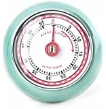 Kikkerland Magnetic Kitchen Timer, Retro Green