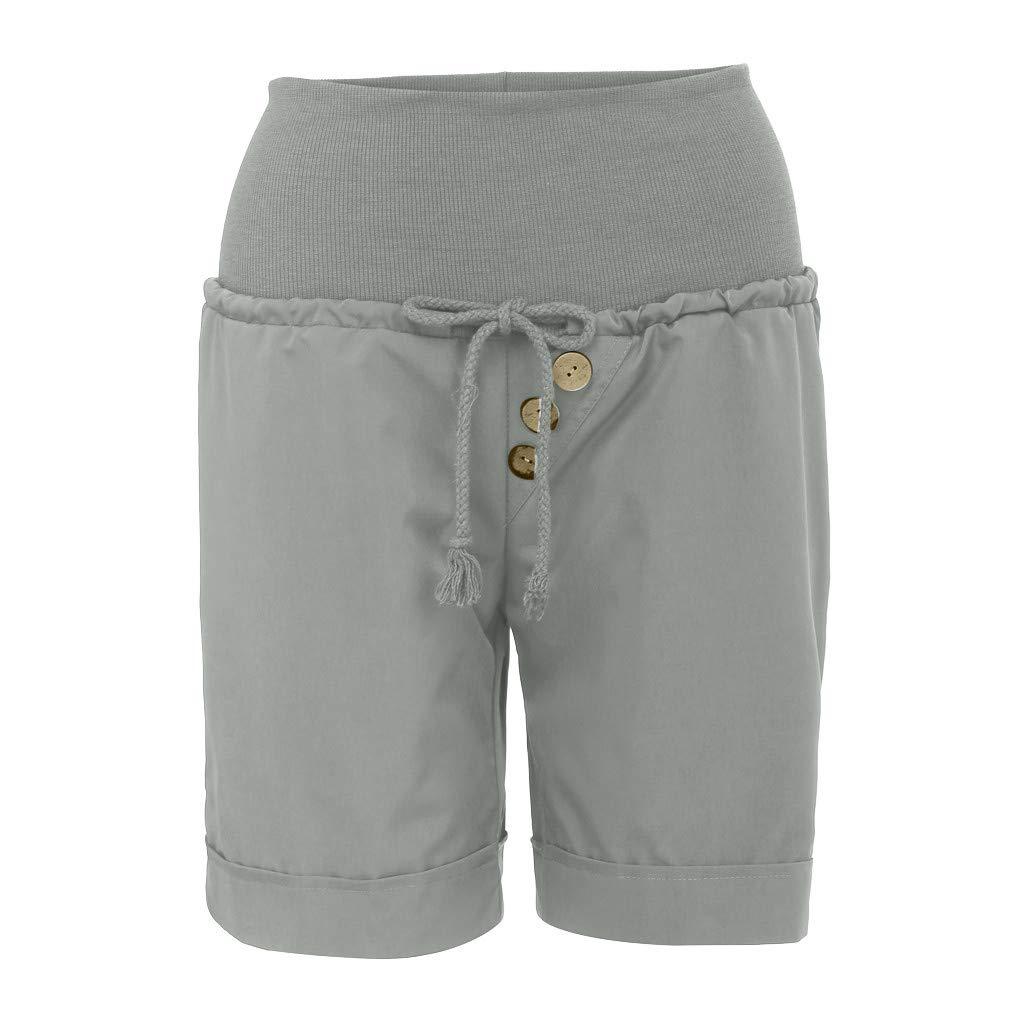 Funic 2019 New Womens Fashion Summer Hot Pants Capri Shorts High Waist Bandage Pants Trousers