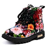 Bumud Boy's Girl's Waterproof Lace-Up Martin Boots (Toddler/Little Kid) (Black, 11 M US Little Kid)