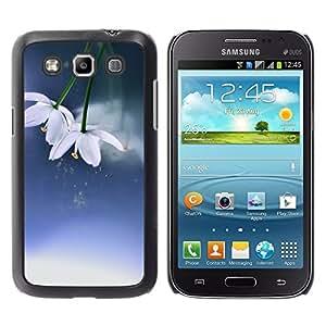 TopCaseStore / la caja del caucho duro de la cubierta de protección de la piel - Flowers Winter Spring Blue White - Samsung Galaxy Win I8550 I8552 Grand Quattro