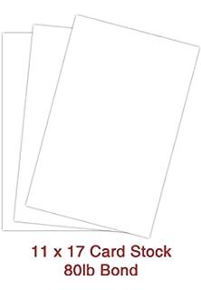 Amazon Com A3 White Card Stock Paper Size 11 7 X 16 5 297 X 420