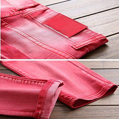 Mezclilla Hombres De Pantalones Rasgados Los ADELINA Mezclilla Ropa De Casual Straight Color Muslos Retro Agujeros De Rot Cher 32L Size Jeans Essentials 36 Washed Pantalones qEtnHp