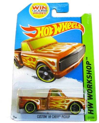 Hot Wheels - HW Workshop 217/250 - Heat Fleet Custom '69 Chevy - Flames Truck Car