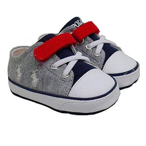 Zapatilla algodón bebé Polo Ralph Lauren Kody Layette Gris GRIS