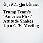 Trump Team's 'America First' Attitude Shakes Up a G-20 Meeting | Jack Ewing