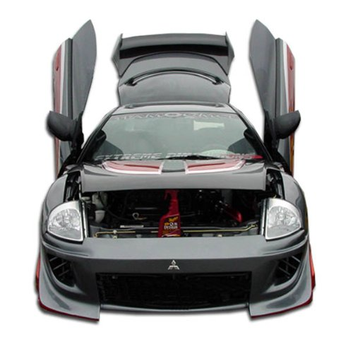 - Duraflex ED-DAZ-456 Blits Front Bumper Cover - 1 Piece Body Kit - Compatible For Mitsubishi Eclipse 2000-2005