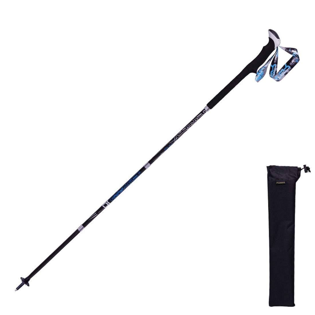 Mifusanahorn Trekking Pole Double Lock Ultraleichtes Outdoor Sports Teleskop Wandern Kohlefaser Hohe Härte Vier Falten