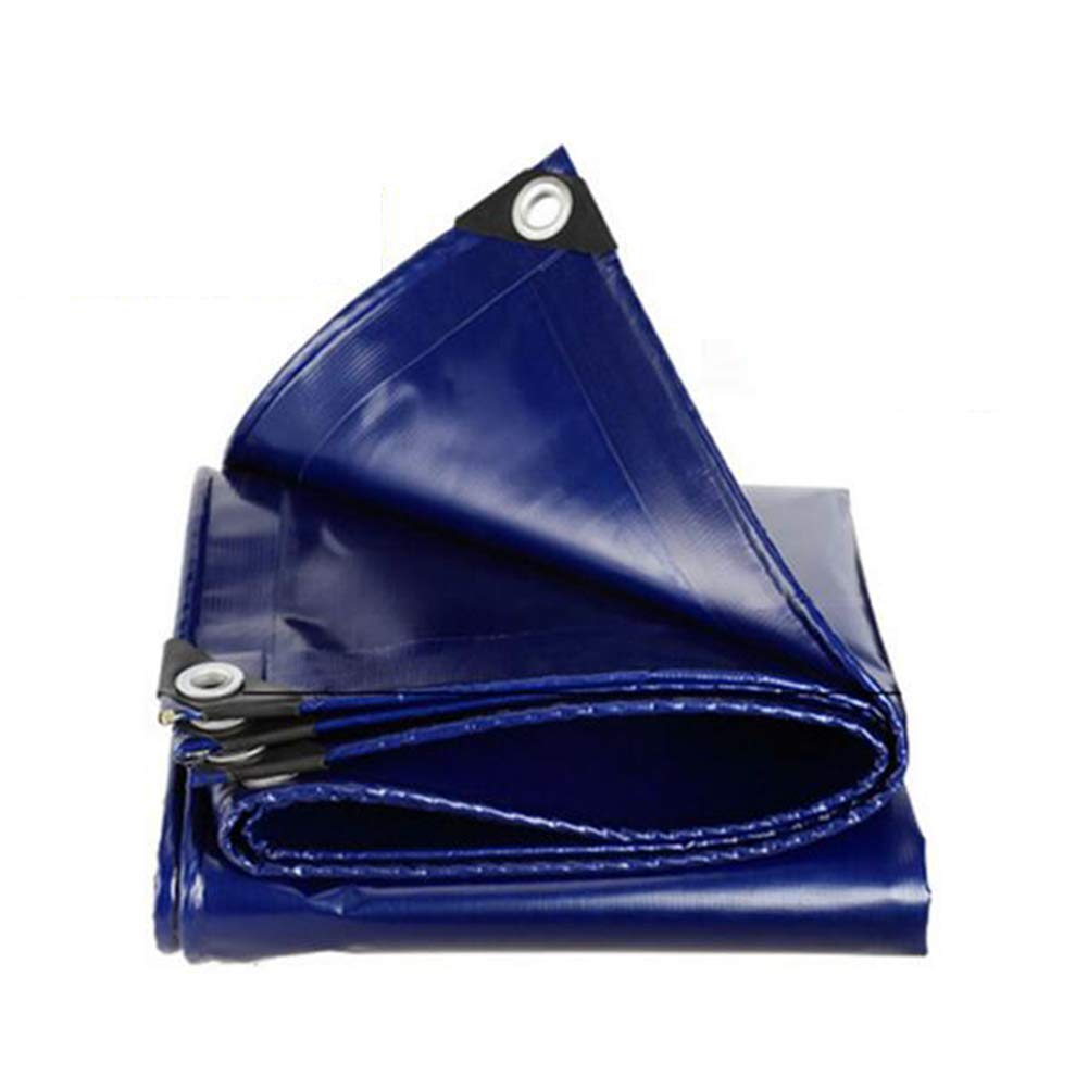 Dall telone Impermeabile Tarp Foglio di Terra Copertine Capannone Doppia Faccia Impermeabile (colore   Blu, Dimensioni   3  3m)