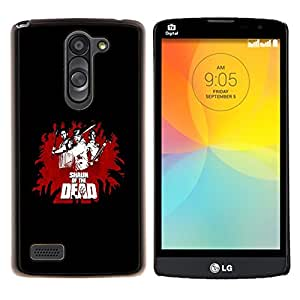 Queen Pattern - FOR LG L Bello L Prime D337 - cool funny movie of dead fight black red - Cubierta del caso de impacto con el patr???¡¯???€????€???&Aci