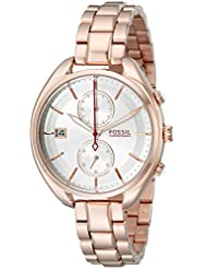 Fossil Womens CH2977 Land Racer Rose Gold-Tone Stainless Steel Watch