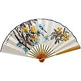 Oriental Style Folding Fan Hand Fan Handfan Handheld Fan Perfect Gift, L
