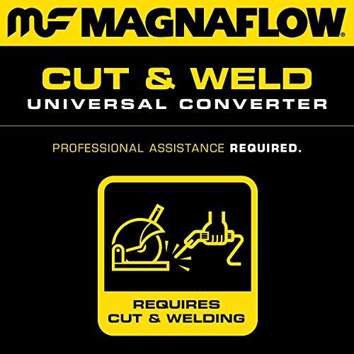 CARB Compliant MagnaFlow 458015 Universal Catalytic Converter