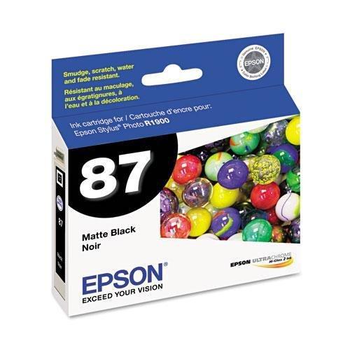 Epson T087820 UltraChrome Hi-Gloss 2 Ink, Matte Black