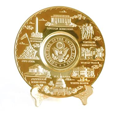Washington D.C. Metal Souvenir Plate