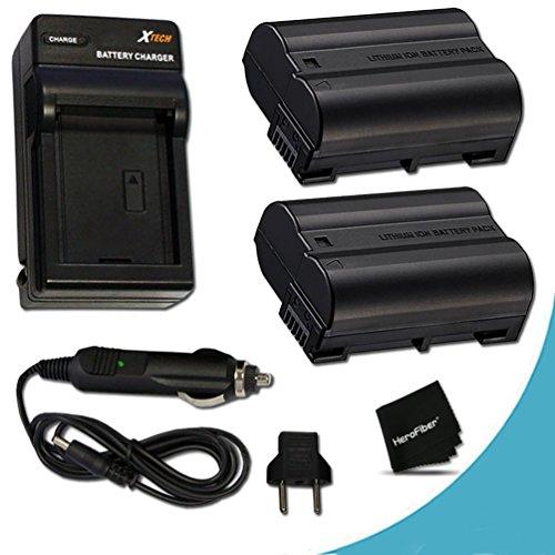 2 High Capacity Replacement Nikon EN-EL15 Batteries And 1 AC/DC Quick Charger Kit f/ Nikon D750 Nikon D7200 D7100, D7000, D810, D810A, D800, D800E, D600, D610, 1V DSLR Cameras